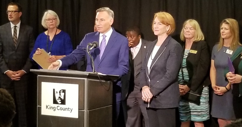 King County Executive Dow Constantine and Seattle Mayor Jenny Durkan