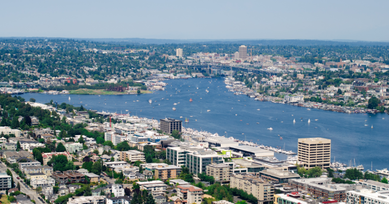 Photo of Seattle, Lake Union and King County region